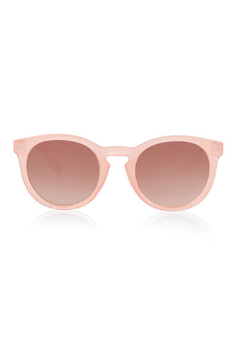 Warehouse, Rounded Frame Sunglasses Light Pink 0