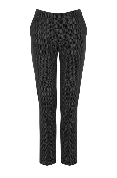 Warehouse, PINSPOT SLIM LEG TROUSERS Black 0