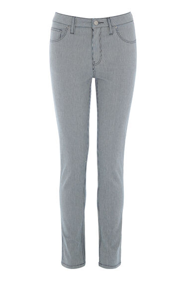 Warehouse, Cropped Skinny Cut Jeans Multi 0