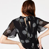 Warehouse, DANDELION PRINT DRESS Black Pattern 4