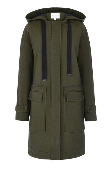 Warehouse, POCKET DETAIL PARKA Khaki 0