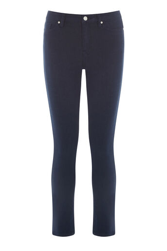 Warehouse, Crop Skinny Cut Jeans Navy 0