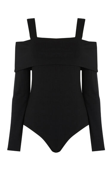 Warehouse, OFF SHOULDER BODY Black 0