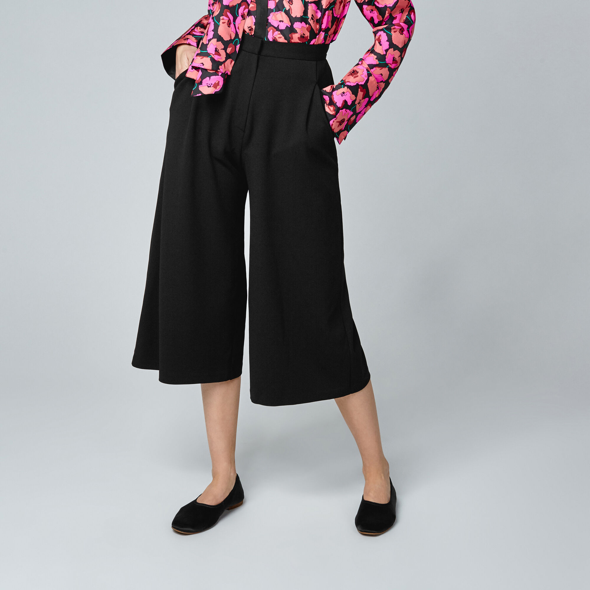 Warehouse, CREPE CULOTTES Black 1