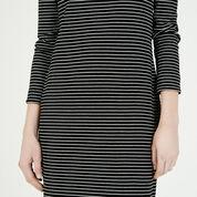 Warehouse, STRIPE RIB TURTLE NECK DRESS Black Stripe 4