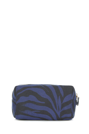 Warehouse, JUNGLE STRIPE MAKE UP BAG Black Pattern 0