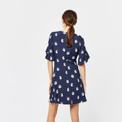 Warehouse, SWAN PRINT DRESS Blue Pattern 3