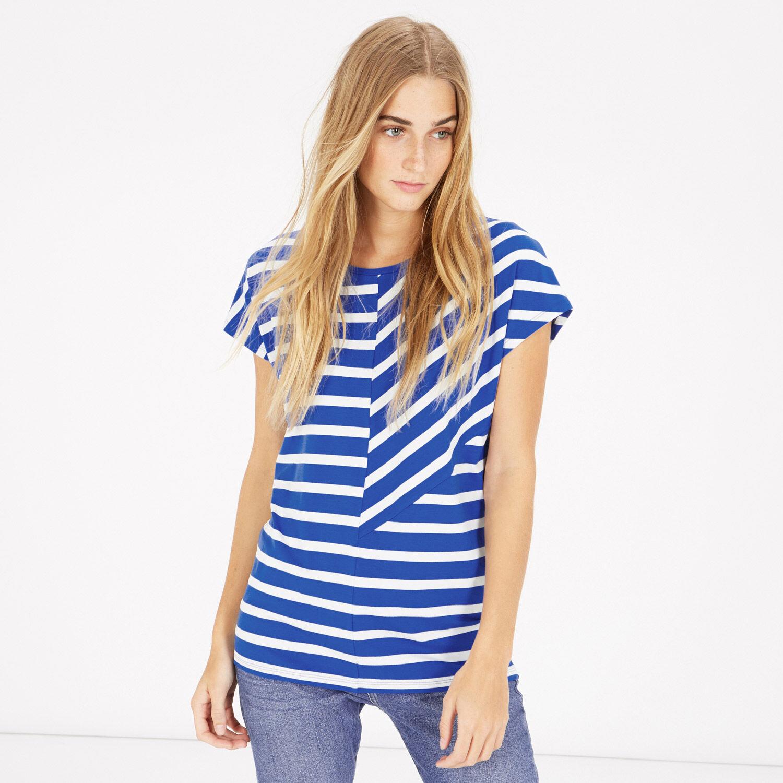 Warehouse, CUTABOUT STRIPE TOP Blue Stripe 1