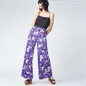 Warehouse, ASTER FLORAL TROUSERS Purple Pattern 2