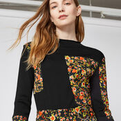 Warehouse, PATCHWORK PRINT JUMPER Multi 4
