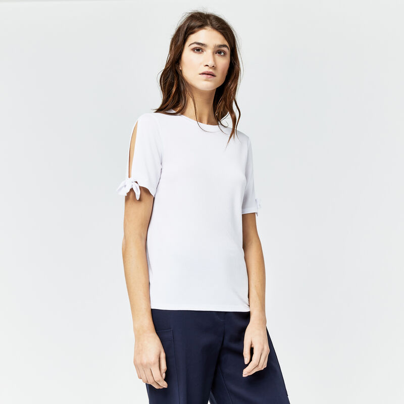 Warehouse, TIE SIDE SLEEVE TEE White 1