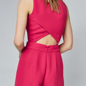 Warehouse, CROSS BACK JUMPSUIT Bright Pink 4