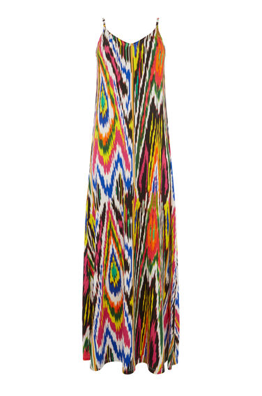 Warehouse, RAINBOW IKAT MAXI DRESS Multi 0