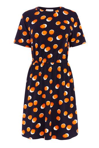 Warehouse, TOFFEE PENNY TEE DRESS Navy 0