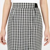 Warehouse, Gingham Wrap Skirt Black Pattern 4