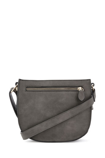 Warehouse, SQUARE CASUAL CROSSBODY Dark Grey 0