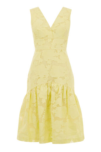 Warehouse, BURN OUT DRESS Lemon 0