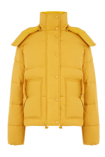 Warehouse, POCKET DETAIL PADDED COAT Mustard 0