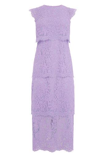 Warehouse, Tweekleurige gelaagde kanten jurk Veelkleurig 0