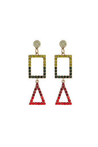 Warehouse, RAINBOW MIX SHAPE EARRING Gold Colour 0