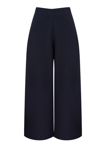 Warehouse, SIDE SPLIT CULOTTES Navy 0