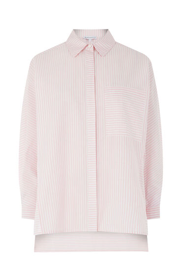 Warehouse, CANDY STRIPE BOXY SHIRT Light Pink 0