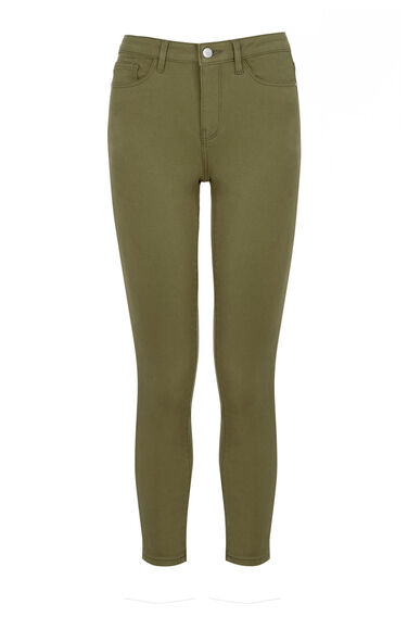 Warehouse, Cropped Signature Skinny Jeans Khaki 0