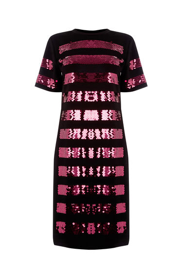Warehouse, STRIPE SEQUIN DRESS Multi 0
