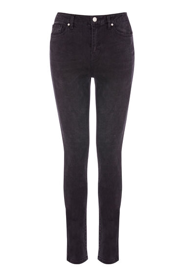 Warehouse, Powerhold Skinny Cut Jeans Black 0