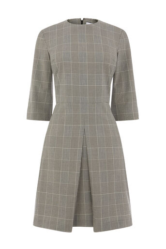 Warehouse, MONO CHECK BOX PLEAT DRESS Multi 0
