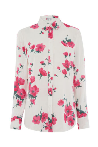 Warehouse, DELIA FLORAL PRINT SHIRT Neutral  Print 0
