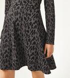 Warehouse, LEOPARD JACQUARD POLO DRESS Grey Pattern 4