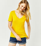 Warehouse, V NECK SMART TEE Mustard 1