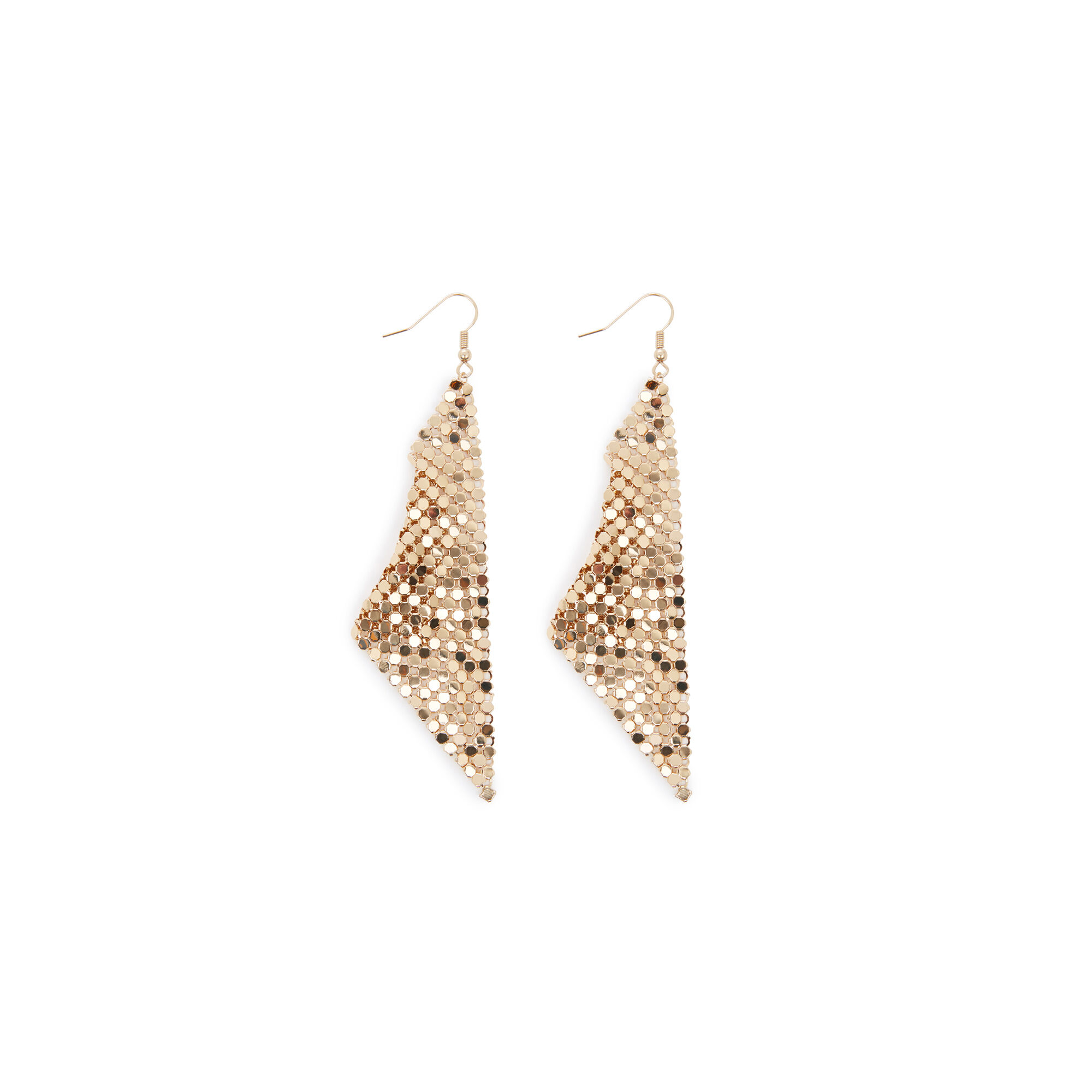 Warehouse, CHAINMAIL SHEET EARRING Gold Colour 1