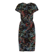 Warehouse, MEADOW FLORAL T SHIRT DRESS Multi 0
