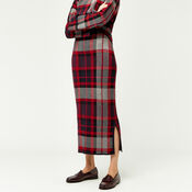 Warehouse, CHECK KNITTED SKIRT Red Pattern 3