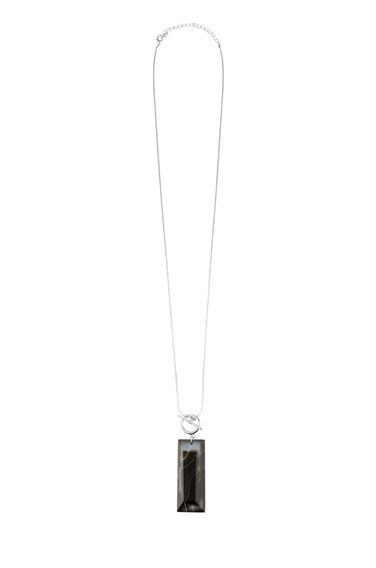 Warehouse, Semi Precious Long Necklace Black 0