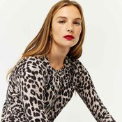 Warehouse, ANIMAL PRINT JUMPER Grey Pattern 1
