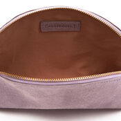 Warehouse, SUEDE EMBOSSED CLUTCH BAG Lilac 2