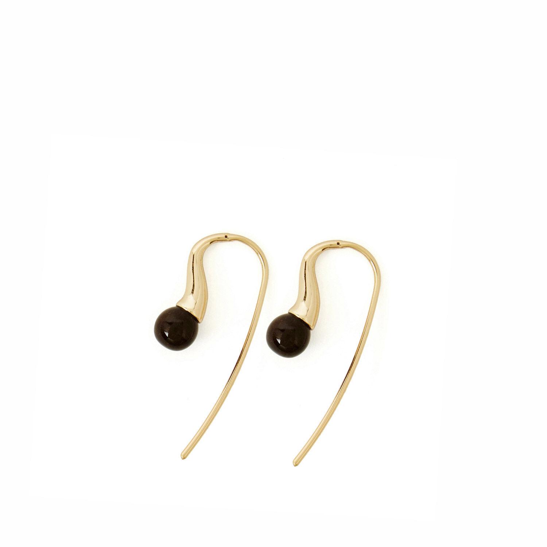 Warehouse, Stone Hook Earrings Gold Colour 1