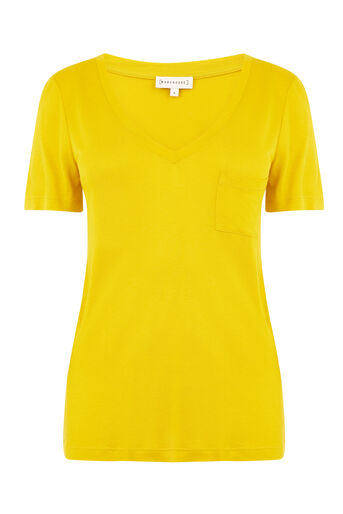 Warehouse, V NECK SMART TEE Mustard 0