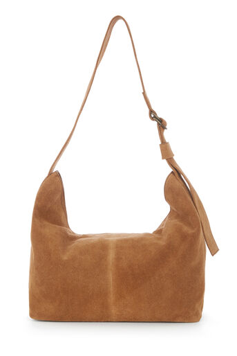 Warehouse, SUEDE SLOUCHY BAG Camel 0