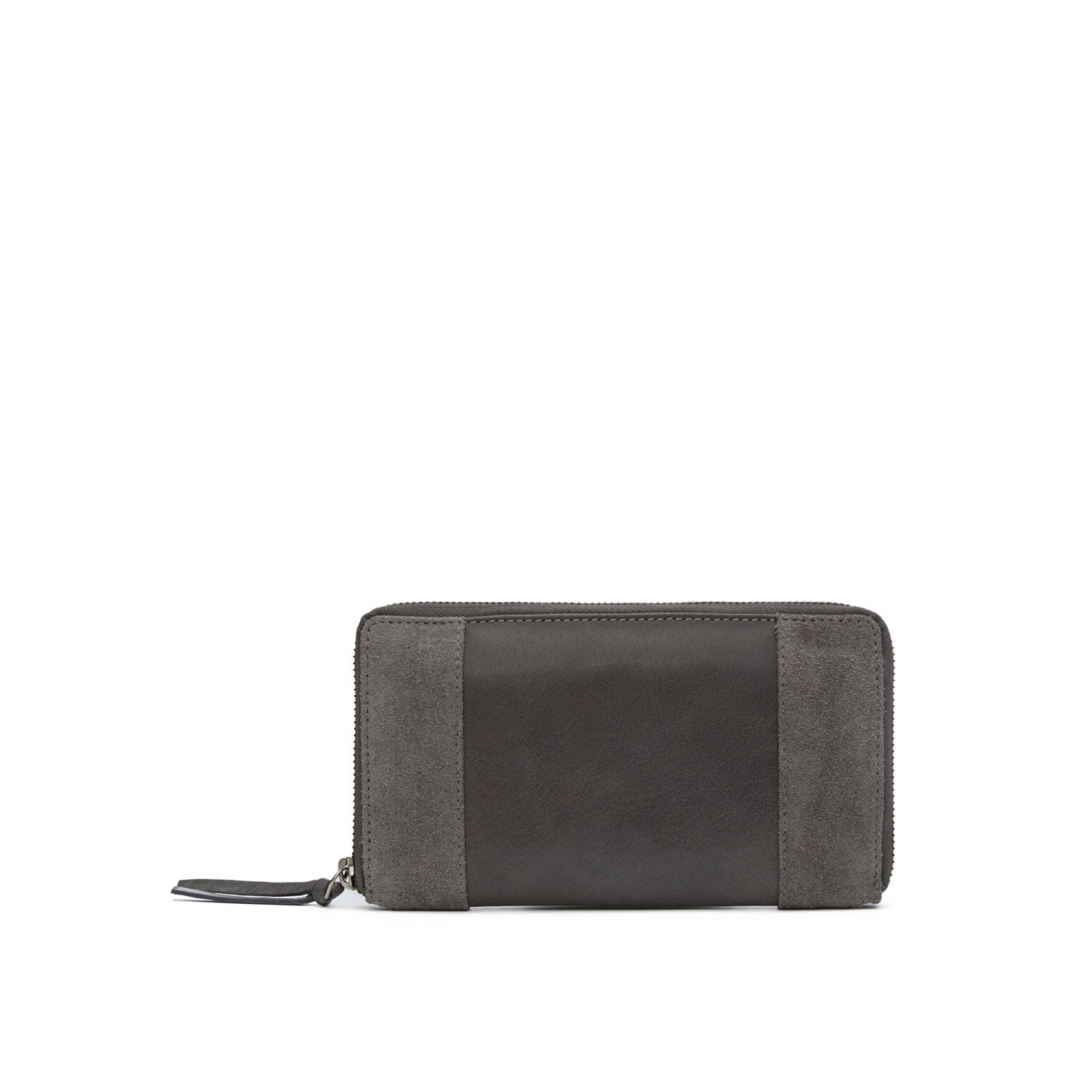 Warehouse, SUEDE AND LEATHER PURSE Light Grey 1