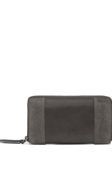 Warehouse, SUEDE AND LEATHER PURSE Light Grey 0