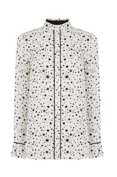 Warehouse, STAR PRINT SHIRT White 0
