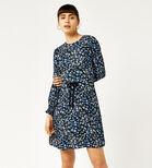 Warehouse, MINI MARIGOLD FLIPPY DRESS Blue Pattern 3