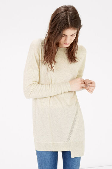 Warehouse, STEP HEM JUMPER Cream 1