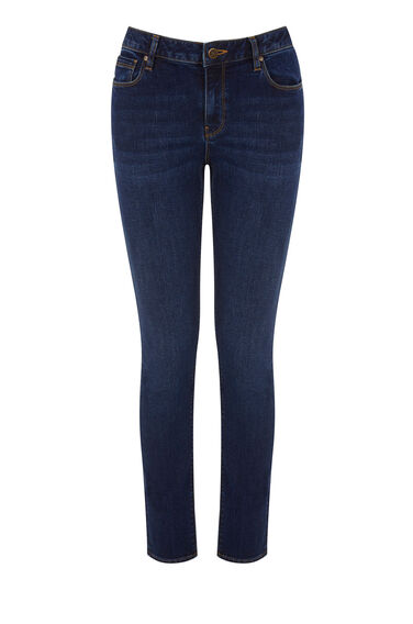 Warehouse, The Relaxed Skinny Cut Mid Wash Denim 0