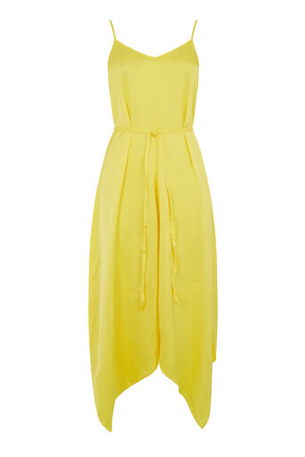 Warehouse, PREMIUM HANKY HEM CAMI DRESS Yellow 0