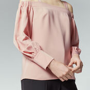 Warehouse, STRAPPY BARDOT TOP Light Pink 4